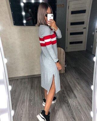 Новинка Стильное демисезонное платье миди разные цвета от 42 по 48рр