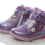 Демисезонные ботинки на девочку осенние мигающие светящиеся