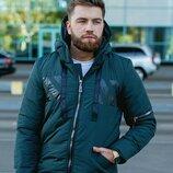 Куртка мужская Зима турецкая плащевка Аляска, Размеры -46,48,50,52,54.