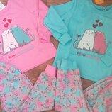 Теплые пижамы Бемби с начесом и без начеса 98-140р.