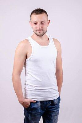Майка борцовка мужская разм 46-60 серый черный белый