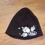 шапка, двойная, коттоновая, черная, 40