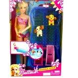 Кукла типа Барби, Bettina с бассейном , горками и 2 питомцами 68012