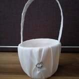 свадебная корзина сумка сумочка для шампанского белая