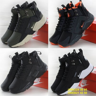Мужские кроссовки Nike Huarache Acronym City MID Black White