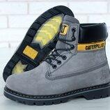 Топ качество Caterpillar CAT нат нубук мех ботинки зимние, мужские и женские, р 36-45, YOF11663