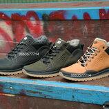 Мужские кожаные зимние кроссовки ботинки на меху New balance