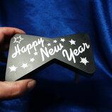 Игрушка-Тарахтелка Happy new year Держа за ручку- раскручиваешь- она тарахтит