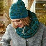 Тёплый комплект шапка шарф-снуд от тсм Tchibo чибо , Германия