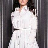 Белая рубашка с длинным рукавом Джесика