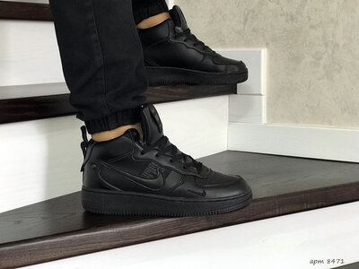 Зимние кроссовки Nike Air Force черные 8471