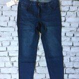 Женские джинсы момс без потертостей деним средняя посадка котон