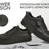 Полуботинки кеды утепленные кроссовки Power Design модель Байкер