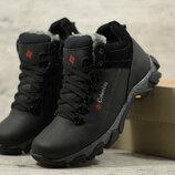 Мужские зимние ботинки Columbia натур кожа, 2 цвета