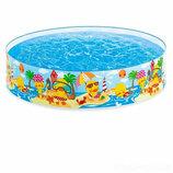 Детский каркасный бассейн Intex 58477 «Утинный риф», 122 х 25 см