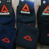 Носки спортивные Reebok махровые мужские синие, серые, черные.