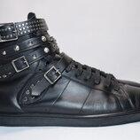 Высокие кроссовки кеды Saint Laurent 16h Studded мужские кожаные. Италия. Оригинал. 42.5 р./28 см.