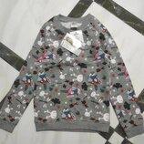 Утеплена кофта світшот, джемпер, пуловер для дівчинки Pocopiano 86-92,98-104, 110-116