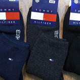 Носки спортивныеTommy Hilfiger махровые синие, черные, серые р.41-45