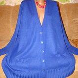 Яркая синяя теплая кофта большой размер 24-26р пог 76
