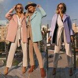 Модные Демисезонные Пальто Oversize в 3 расцветках