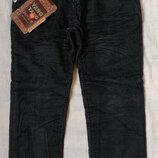 Теплые джинсы брюки вельвет на флисе на мальчика 4,5,6,7,8,10,11,12,13,14 лет, 104-165 рост