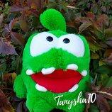Ам Ням Om Nom плюшевый веселый герой мягкая игрушка 3 размера