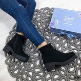 Натуральные кожаные женские деми ботинки