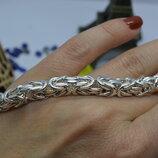 Серебряный браслет на руку Византия Лисий хвост брутал 925 21размер