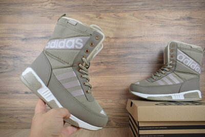 Сапоги зимние Adidas бежевые