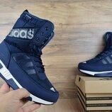 Зимние женские сапоги Adidas синие