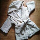 Плюшевый,теплющий халатик. 92-98рр