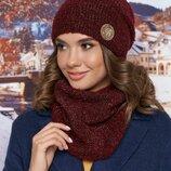 комплект зима, шапка бини и шарф хомут