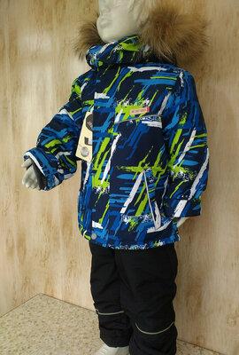 Зимний термо костюм на мальчика Куртка и комбинезон 1-2 года Аляска