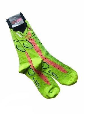 Яркие, стильные, актуальные, модные высокие мужские носки Hot Sox. рыба Glofish 40-45
