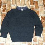 кофта свитер вязка котон обманка 3-4 года NExt сток