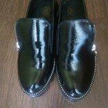 Лоферы туфли лаковые р.36