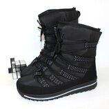 Комфортные дутики на шнуровке 23101