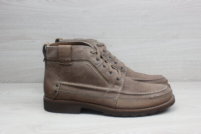 Кожаные мужские ботинки Clarks оригинал, размер 46 замша