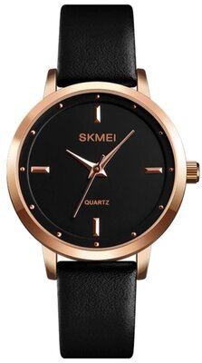 Уникальные женские наручные часы Skmei Lux Black