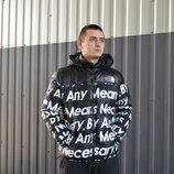 Стильная мужская зимняя куртка Supreme x TNF 3 цвета M, L, XL, XXL