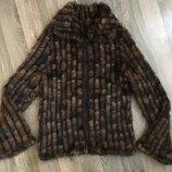 Куртка норковая, Вязаная норка , курточка із в язаної норки . Розмір М/l.