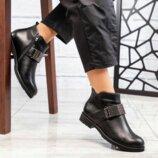 Ботинки, натуральная кожа, деми, черные