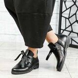 Ботинки короткие, натуральная кожа, черные