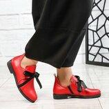 Ботинки короткие, натуральная кожа, красные