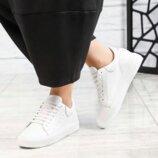 Кроссовки, натуральная кожа, белые