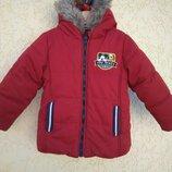 Шикарная тепленькая курточка 86 см