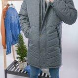 Топ качество. Зима Стильная мужская куртка парка Mollton, серый Mollton Gri