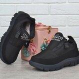 ботинки кроссовки зимние черные