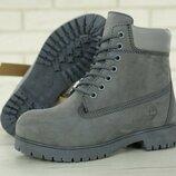 Натуральный нубук мех, ботинки зимние теплые женские, мужские, р 36-45, YOF11685